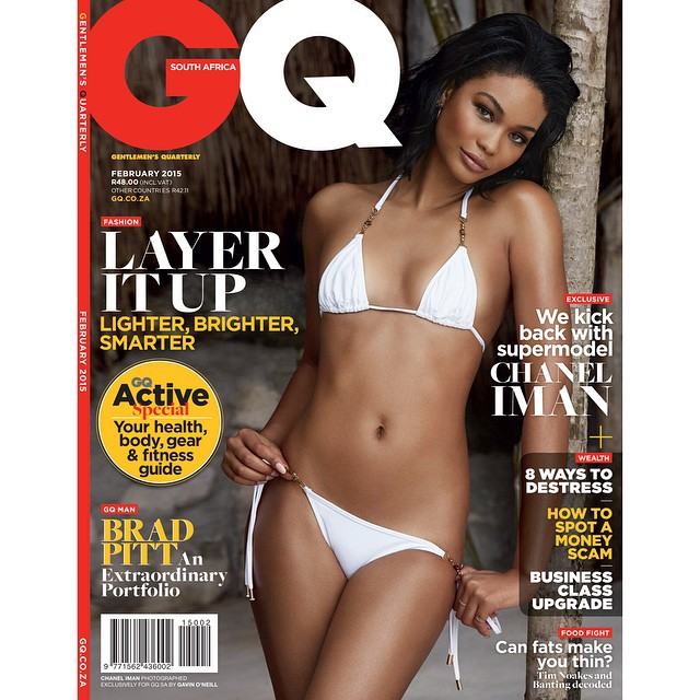 BOOM! @ChanelIman covers the Feb. 2015 issue of @GQSouthAfrica. #IMGirls @gavinoneillphoto | @bobbybujisicmakeup | @jada_fitzgerald | @papayaplayaproject