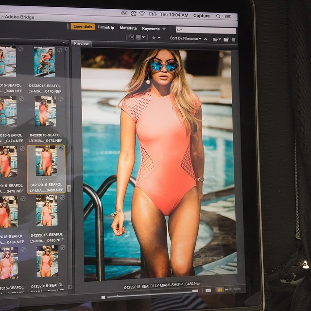 Straight from the camera, throwback to shooting the new @seafollyaustralia campaign x