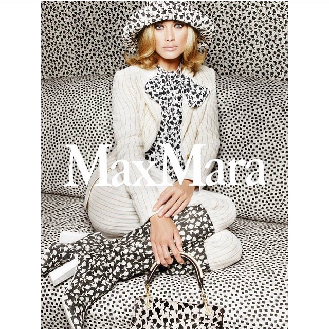 New campaign for @MaxMara by @mario_sorrenti_2 @carineroitfeld @giorgioguidotti15 #hats #boots #fashion