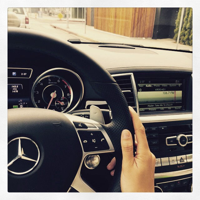 What's better than driving around in your car listening to great music!! @mercedesbenz @kroq