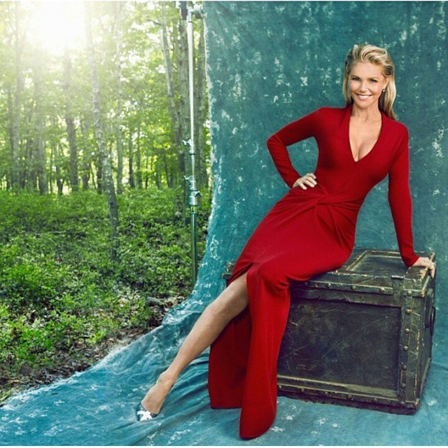 #Movesmag #powerwomen issue @stephenbuskin photographer styling @wslukastyle make up @moyramb hair @kevinmancusonyc @brinkleybeauty www.christiebrinkleyauthenticskincare.com dress #lanvin #christianlouboutin @hair2wear_usa #totalgym