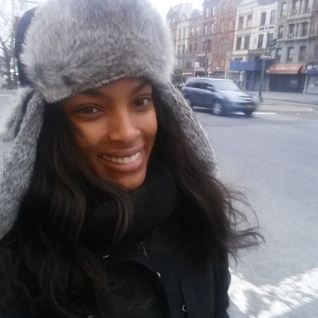 Thanks snow for the warm welcome back to work @the_drjames I love my hat baby! Thank you lover boy