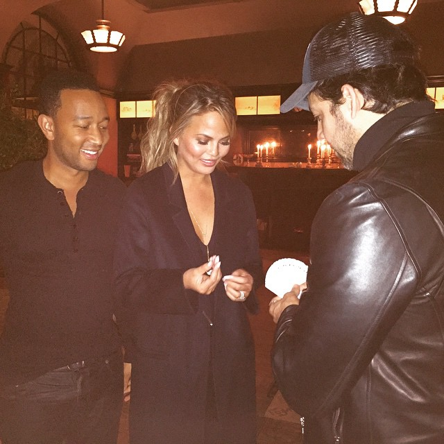 Oh my god ran into @davidblaine said he has seen my magic then proceeded to give us the best show ever