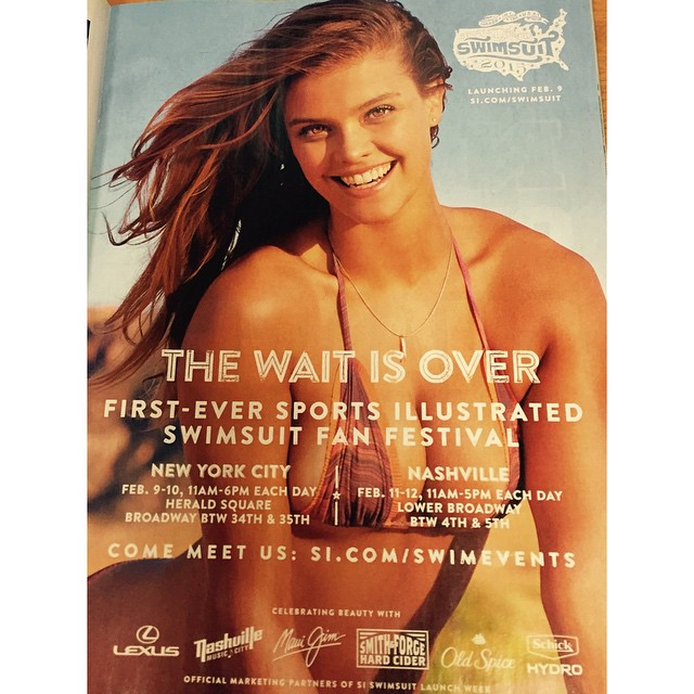 @ninaagdal look at how gorgeous YOU are!!! Kicking off #siwim for 2015!!! Winter is officially over TODAY!!! Launching Feb 9!!!!!