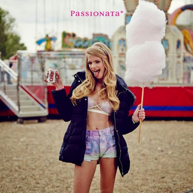 Being silly backstage at the passionata shoot! Haha! @passionata_official #passionata #backstage #valerievandergraaf #bts #candyfloss #sexyfunfair