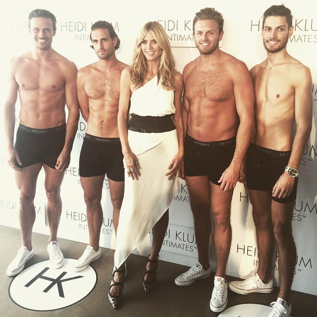 Happy Australia Day! Nice way to celebrate with these guys wearing HKman! @heidiklumintimates