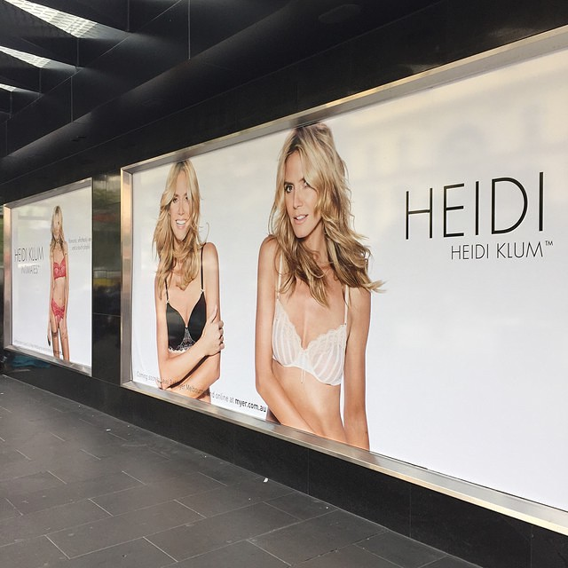 Alright Melbourne, you're up! Who will be at @myer to meet @heidiklum ? #heididownunder #heidiklumintimates #heidiatmyer