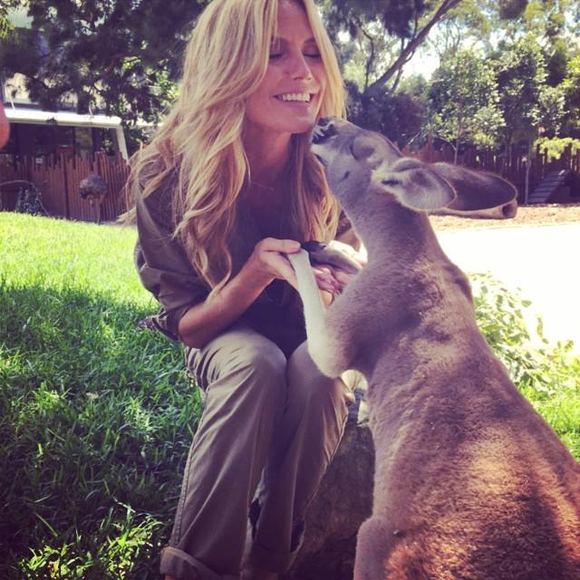Kiss me Skippy #HeidiKlumIntimates #Sydney @HeidiKlumIntimates