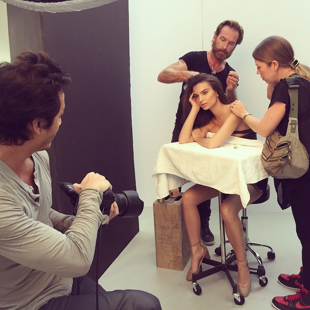 Creating a beauty moment with @emrata @fionastiles @peterbutlerhair in @88phases studio @fordmodels #YuTsaiPhoto