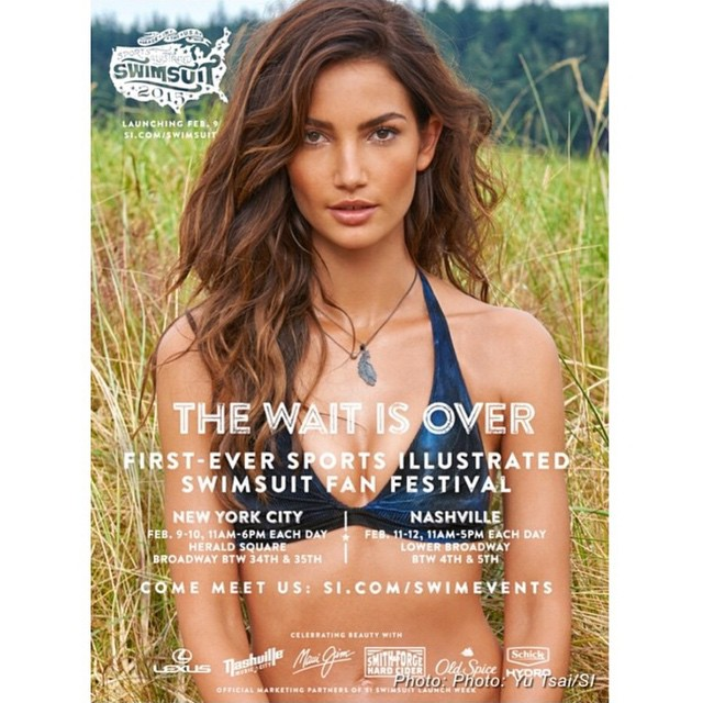 Want to meet your favorite @SI_Swimsuit girls including @LilyAldridge? Be sure to check out the official Fan Festivals in NYC + Nashville. #IMGirls