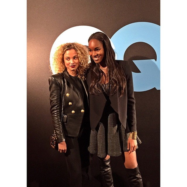 Last night with my babe @damarislewis #GQallstareventxLebronJames