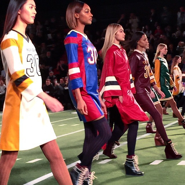 @tommyhilfiger team is ready to win! #NYFW #FW15 #tommyhilfiger #fashion @officialjdunn @gigihadid @liuwenlw @binxwalton I photo by @instylemelissa
