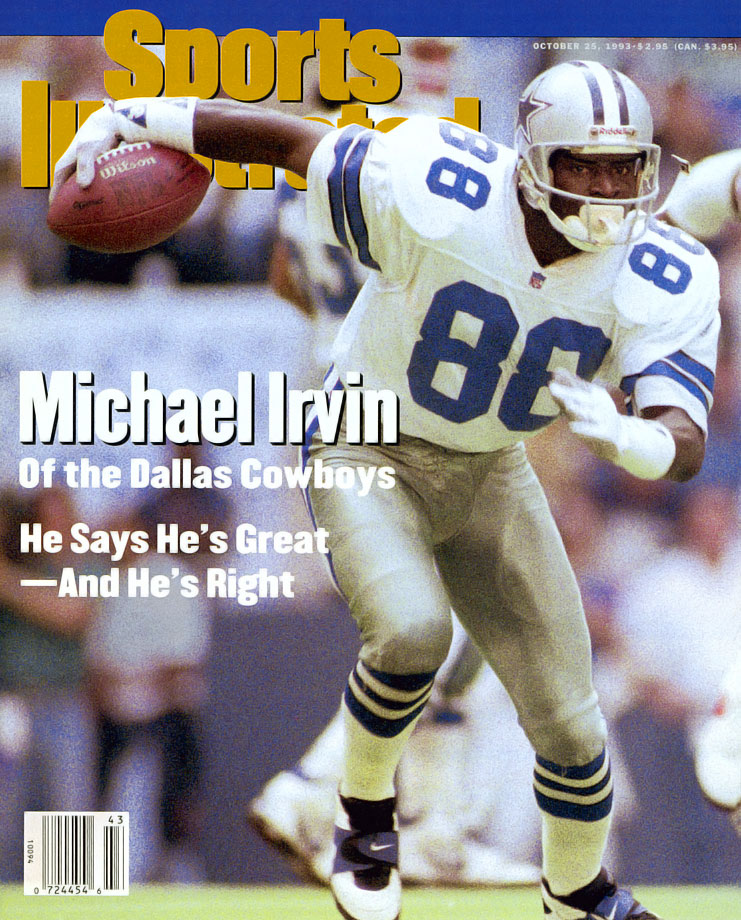 "Irvin was part of the famed ""Triplets,"" with Troy Aikman and Emmitt Smith, that helped make the Cowboys a dynasty in the 1990s. His Credentials: Five-time Pro Bowl selection, three-time All-Pro, three-time Super Bowl champion, named to NFL's All-Decade Team for the 1990s, finished with 750 career receptions and 65 touchdowns, ranked No. 92 on NFL.com's 100 Greatest Players list, inducted into Hall of Fame in 2007. Others in Consideration: Patrick Willis (2007, 49ers); DeMarcus Ware (2005, Cowboys); Ben Roethlisberger (2004, Steelers); Dwight Freeney (2002, Colts); Wilber Marshall (1984, Bears)"