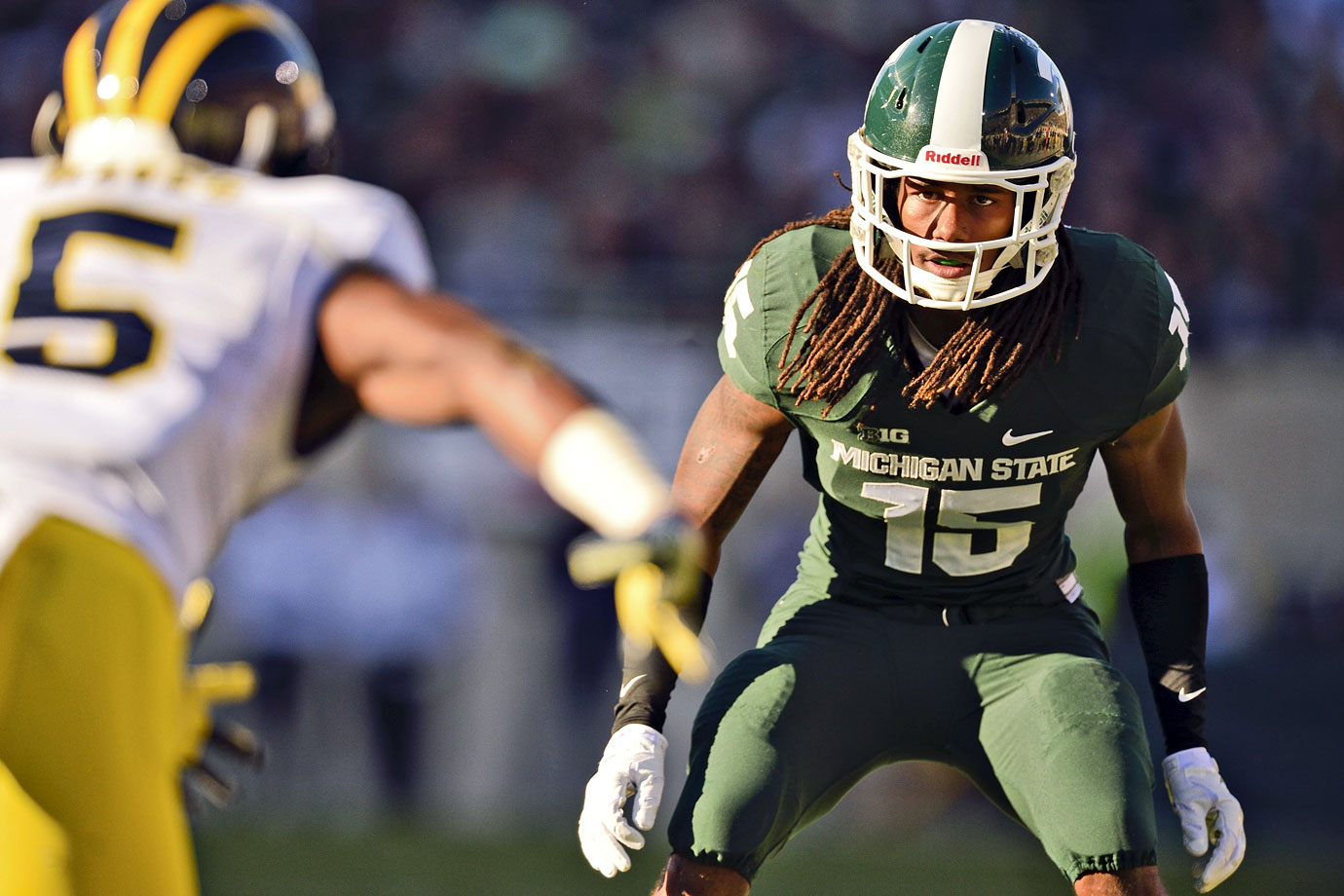 After a lightning-quick 40 at the combine, Waynes established himself as arguably the top cornerback in the draft.