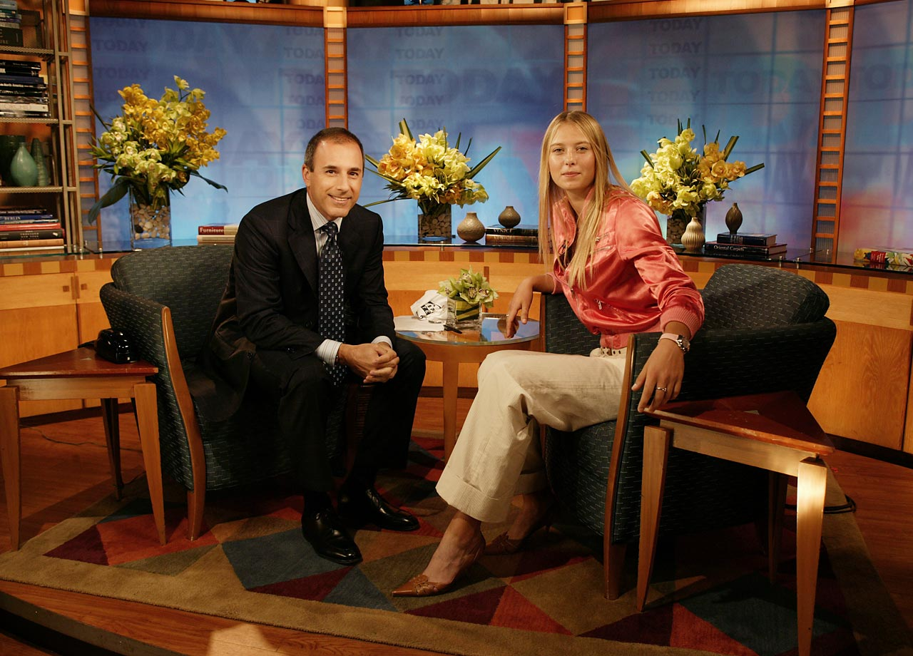 As a guest of Matt Lauer and the Today show, Sharapova talks about her teenage success.