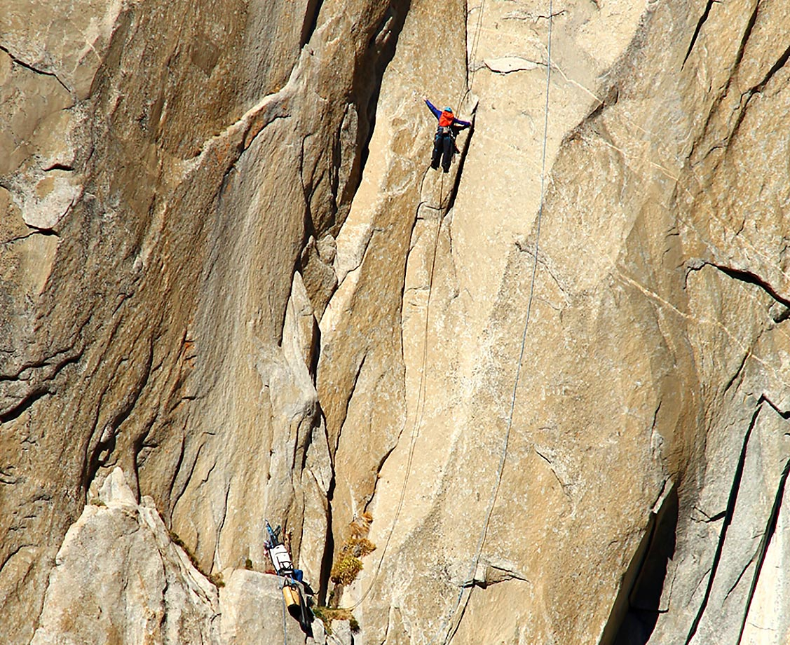 Kevin Jorgeson (in blue) high up on Pitch 8.