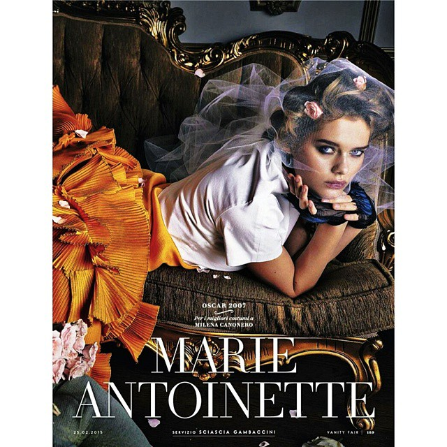 Living out my royal fantasy in this Marie antoinette story for @vanityfair italy #marieantoinette #vanityfairit #baroque #roses