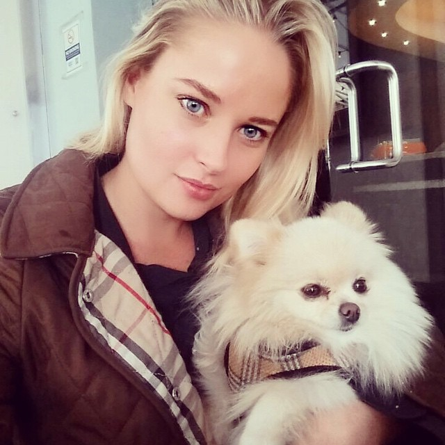 We match our coats #puff #burberry