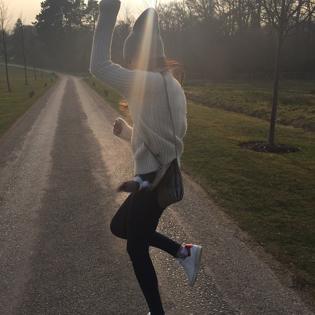 It's a beautiful day!! Why not break into dance on a country road @rubyaldridgefake