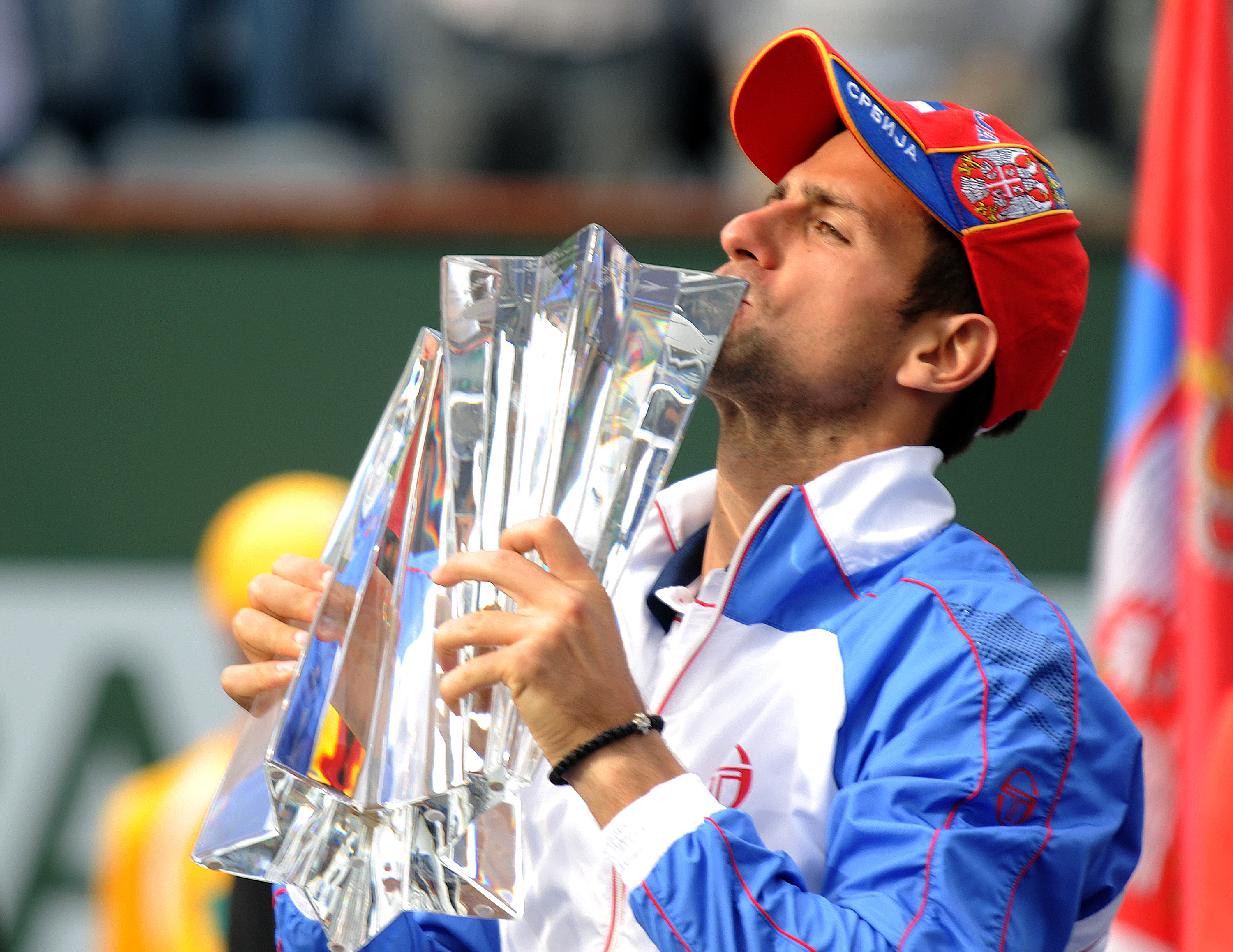 And the red, white and blue attire won him an Indian Wells title.