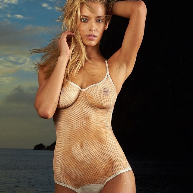 Good morning Saturday. Hanna Ferguson, St Lucia, ode to Cheryl Tiegs in the fishnet suit.#sports illustrated