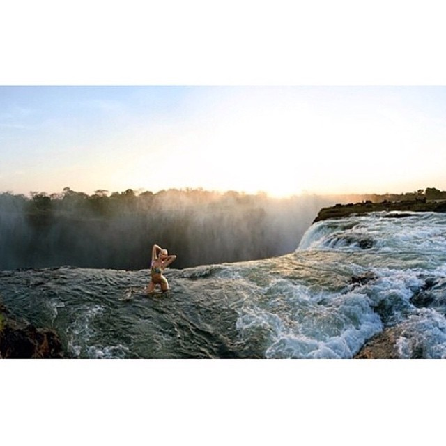 How about this for a location?! #flashbackfriday @si_swimsuit shot in Zambia