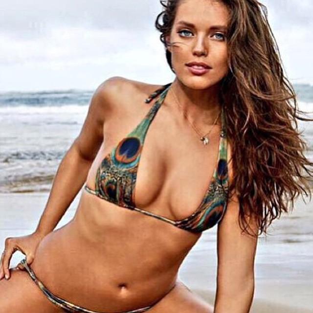 Custom made Indie Soul peacock #bikini now on line. Worn by @emilydidonato1 in #SportsIllustrated #swimsuit 2015. Who wants one? #siswim #bikinis #bikinimodel #beach #beachbabe #springbreak #springstyle #swimwear #model #models #Miami #brickell #miamibeach #southbeach #sexy #getitnow #photography #wcw #emilydidonato
