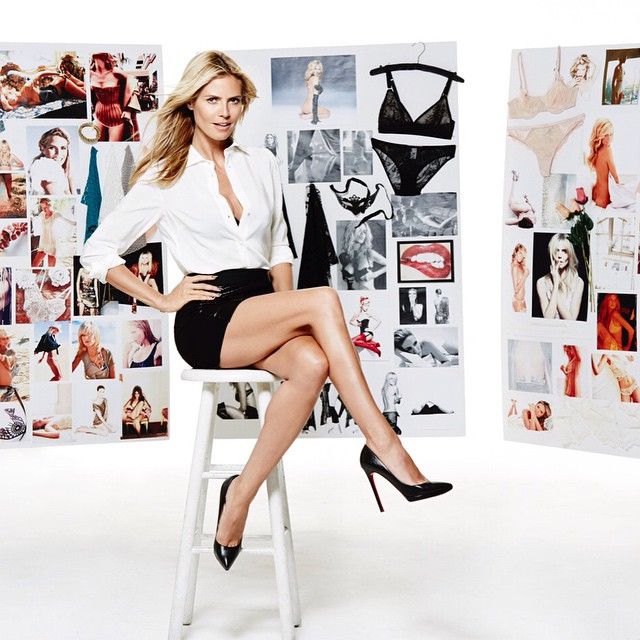 Inspiration all around! Designing beautiful new lingerie for you! @HeidiKlumIntimates