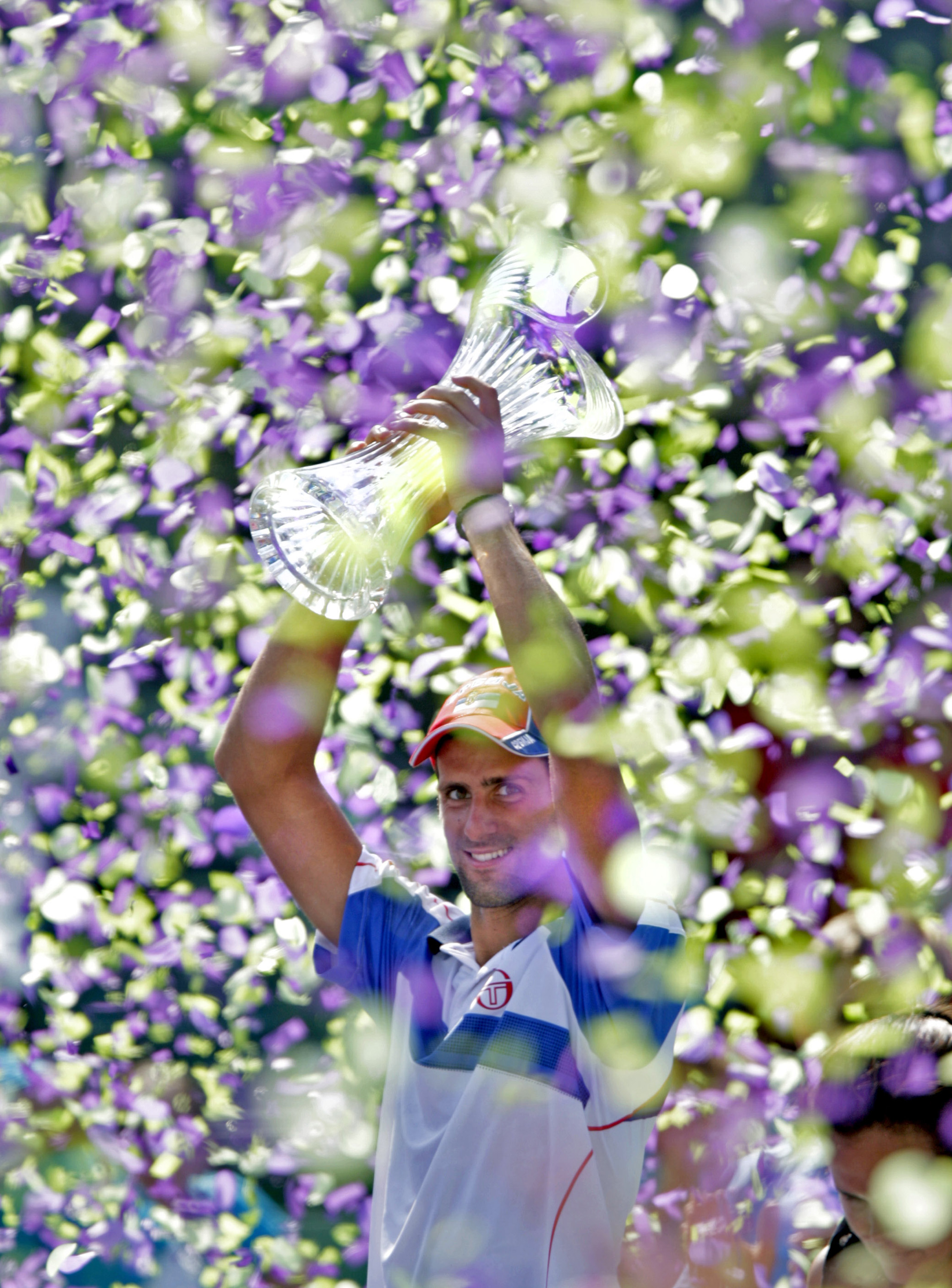 The victories kept coming for Novak in a similar uniform at the Sony Open.