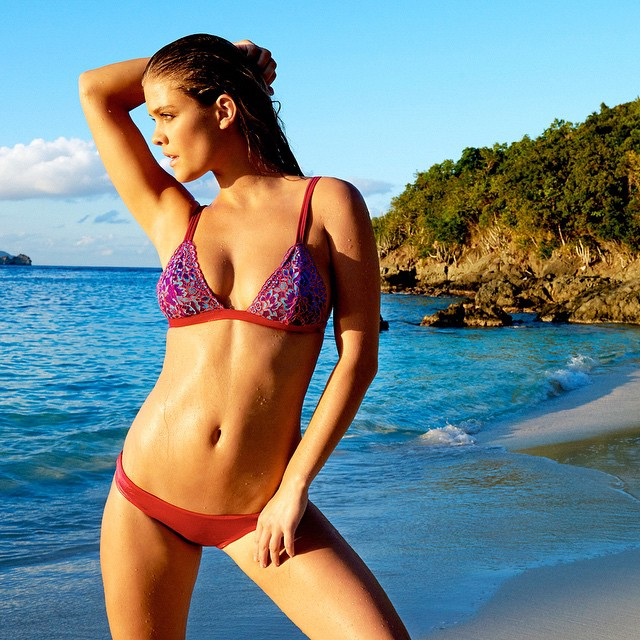 Hello hello pretty @ninaagdal in 'Sugar Beach' | You can find this beauty at @largodrive #beachbunnyswim