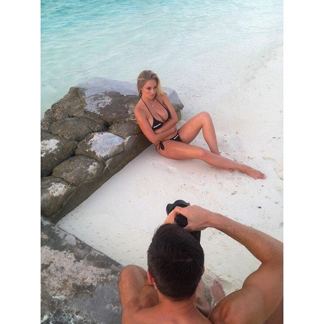 Behind the scenes Shooting for @worldswimsuit with @rikerbrothers