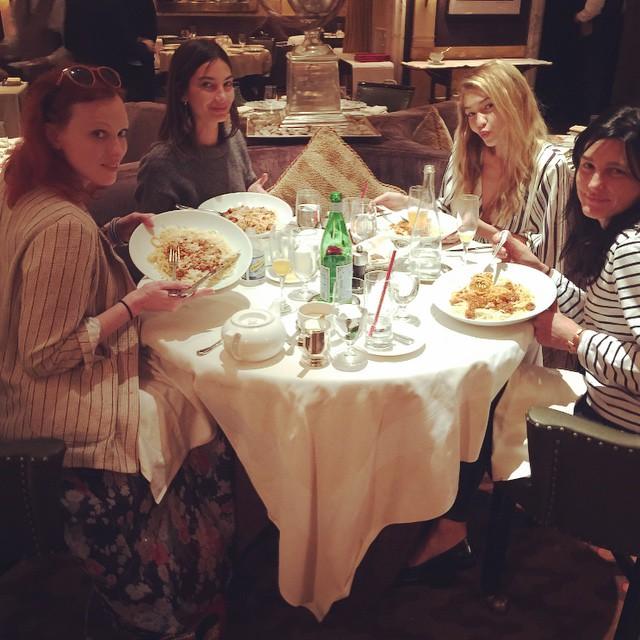 Love Our Annual Pre Met Ladies Lunch #MetGala @MissKarenElson @GigiHadid @TabithaSimmons