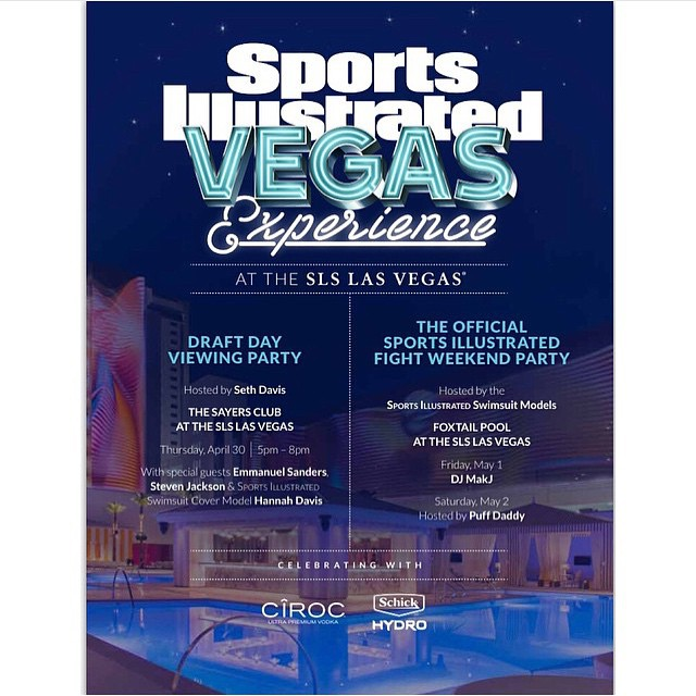 Going to be in Vegas this weekend? Stop by the @slslasvegas and hang out with some @si_swimsuit models.