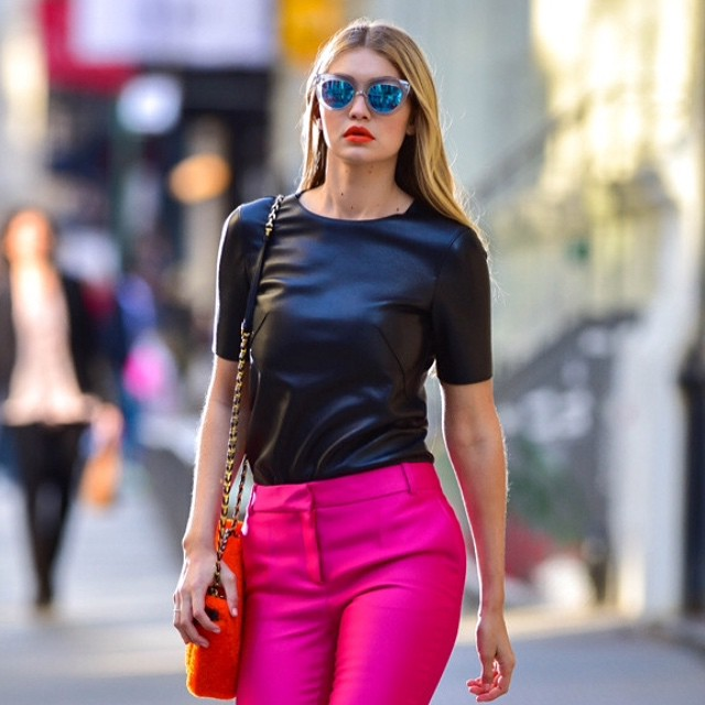 We totally look like this leaving our place too, @GigiHadid (James Devaney/GC images)