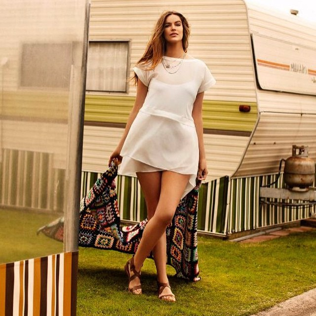 Haha throwback this is the shoot @stevenchee ....me and Steven have not got the greatest luck with sunny countries that rain on our shoots however it always comes out good for one of the very cool plus brands around then #damnyoualexis @meganmoirhardy #70'scaravans