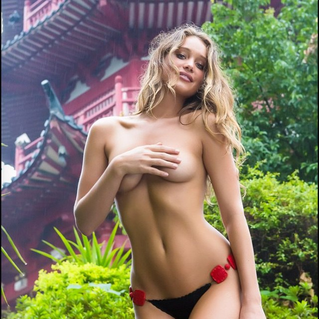 I'm celebrating the #metgala too... TB to that time we were IN China and shot @hanni_davis #siswimsuit