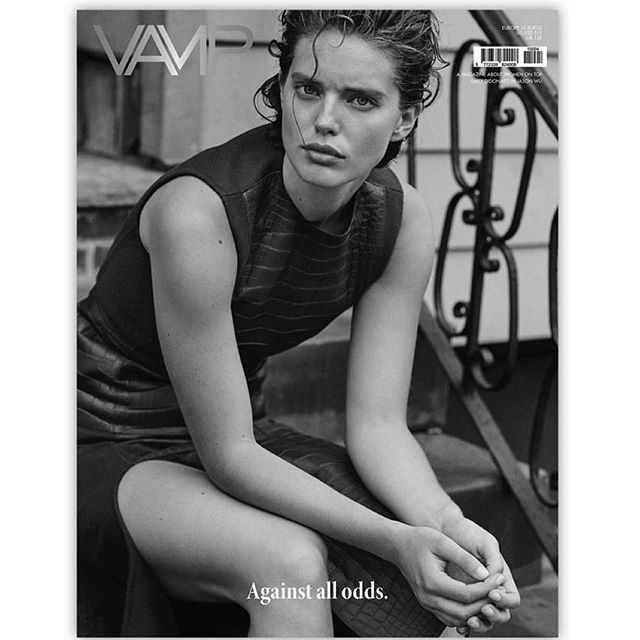 NEW cover of @thevampmagazine shot by @brunostaub wearing @jasonwu thanks for my second cover @thevampmagazine I love it! hair by @pasqualeferrantehair styled by @davidvivirido @imgmodels
