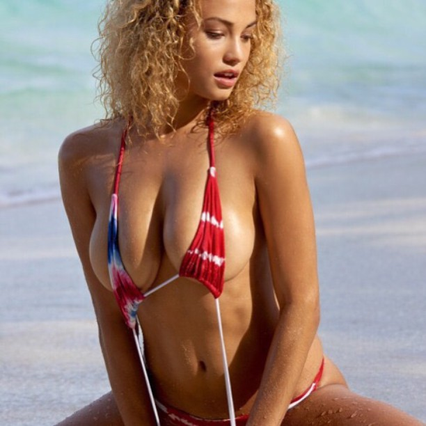 Hey all our #socal, #sandiego and #oc fans. Head on over to @gonebananasbeachwear in San Diego today to get this great #july4th #bikini look featured on Rose Bertram in #sportsillustrated #swimsuit get yours now. #bikinis #bikinimodel #swimsuit #swimwear #style #fashion #fierce #model #models #siswim #boho #bohemian #bohochic #beach #surfers #surfer #tiedye #beauty #photooftheday @nielcube