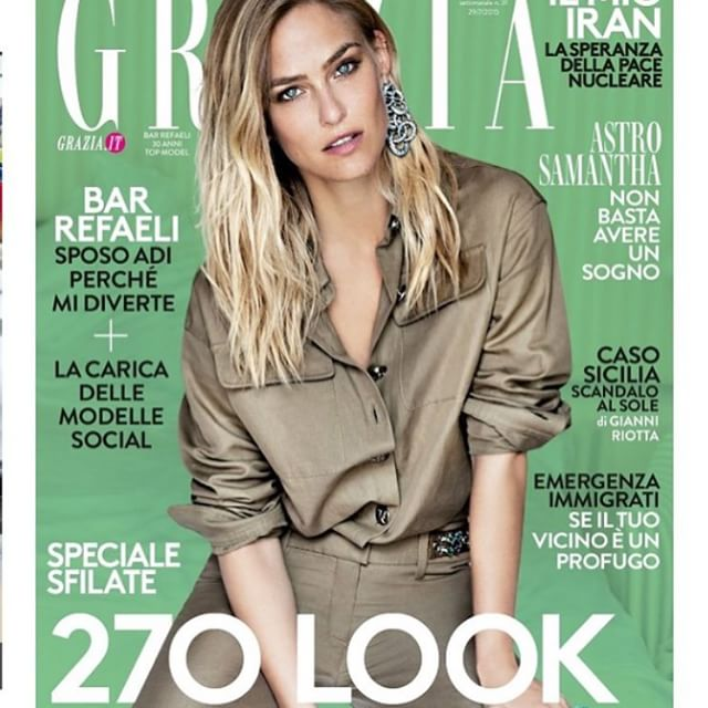 Nice gift for the weekend @grazia_it cover