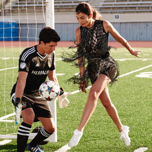 Congrats to @ussoccer_wnt for the Win Last Night!!! Here's a shot of me a Brian Rowe from @SelfMagazine #Usa @rowe_Brian_ @lagalaxy