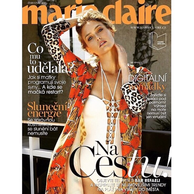 New @marieclairecz issue photograph by @eyalnevo styling by @simonell make up @moranmilk art director @davidsheppard