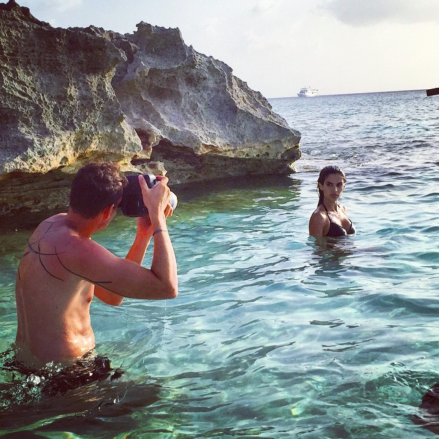 Epic day shooting @victoriassecret with @davidbellemere #turksandcaicos