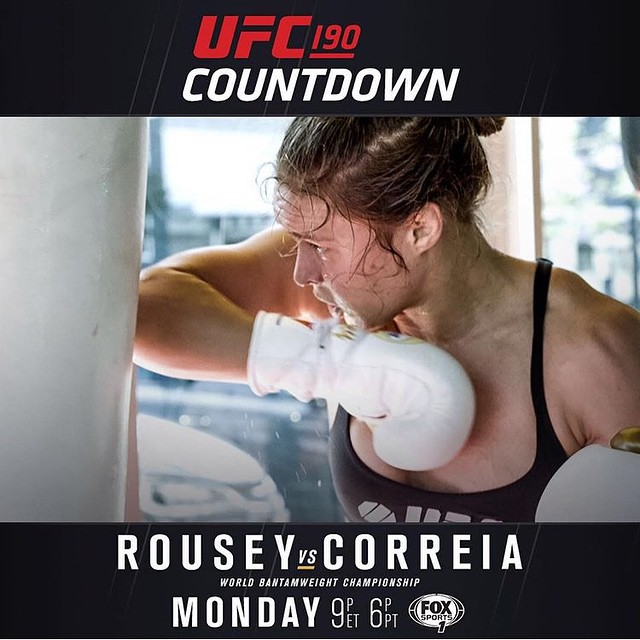 Don't miss #UFC190 countdown on FoxSports1 Monday 6et/9pt
