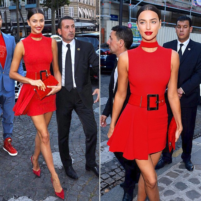On route to the #VogueParisFoundation Gala last night.. @vogueparis Head 2 toe @versace_official @alikavoussi #TeamDV