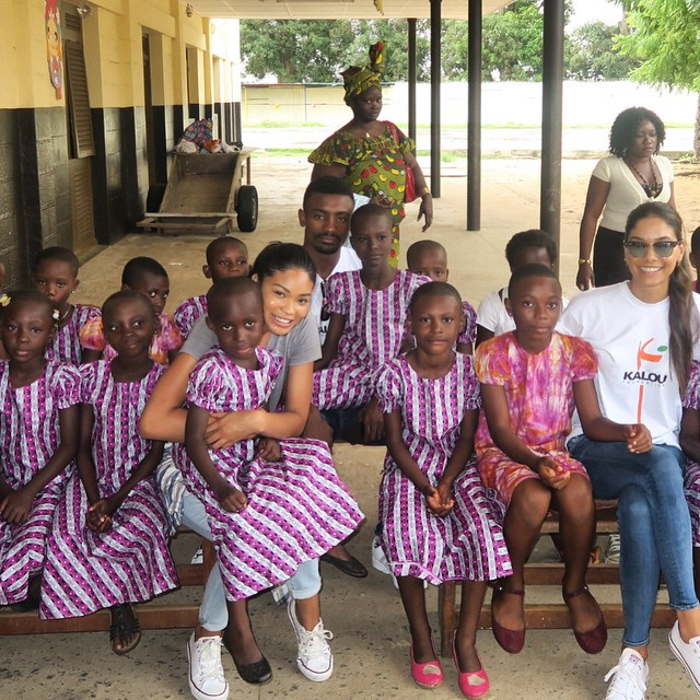 Spent the day in Ivory Coast with the beauties @Kalou_Foundation #africa