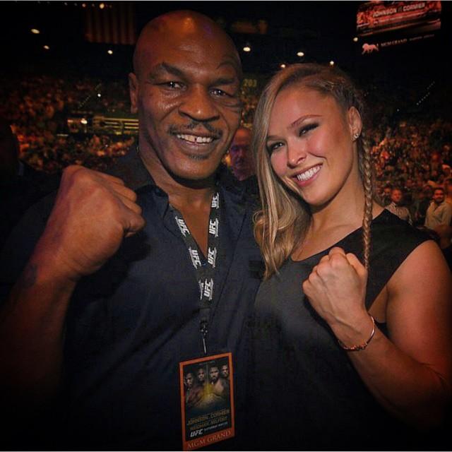 With the man himself at #ufc187 @miketyson