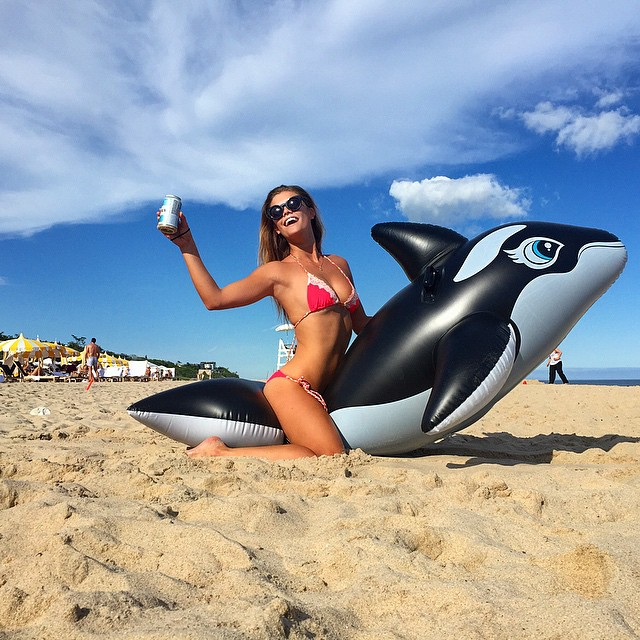 My orca and I living it up @gurneysmontauk #LDVLife