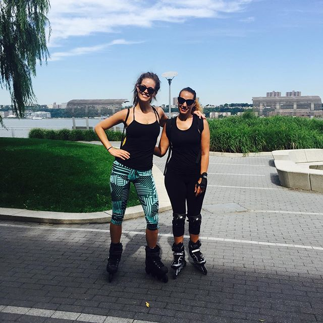 The only two dorks in town who rollerblade