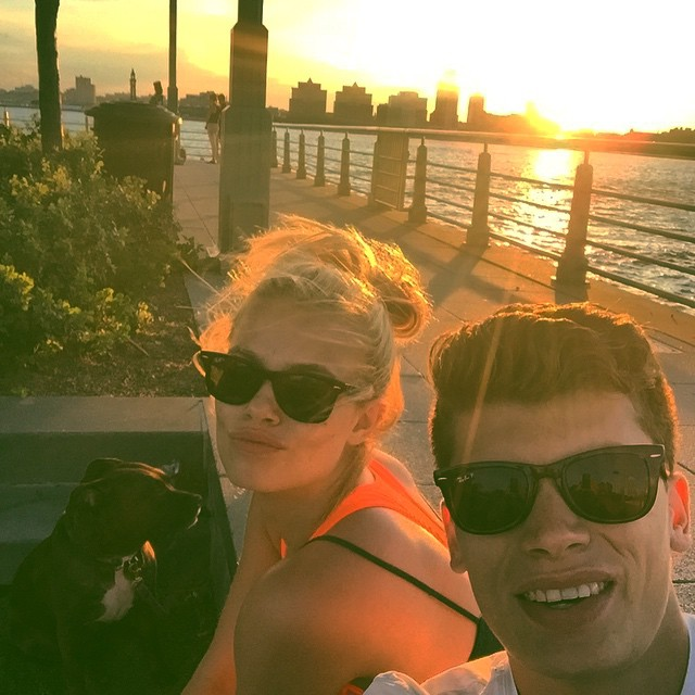 After our workout on the west side highway last night durning sunset