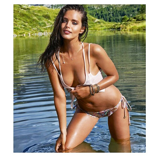 #TBT @emilydidonato1 for @si_swimsuit in Switzerland 2014 @mj_day @imgmodels